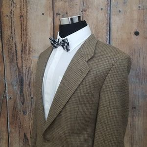 Burberry Sport Coat Mens 44 R Wool Tan Brown Tweed